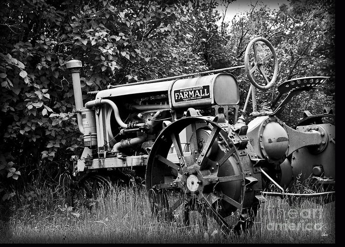 Old Greeting Card featuring the photograph Farmall by Alana Ranney