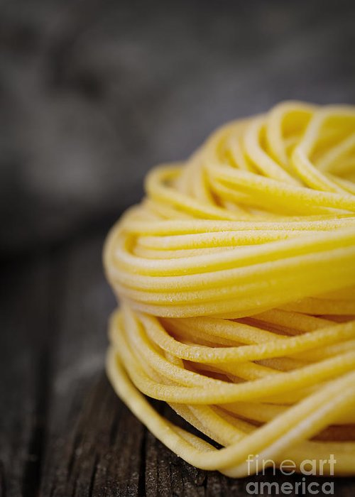 Basil Greeting Card featuring the photograph Fresh Pasta by Mythja Photography