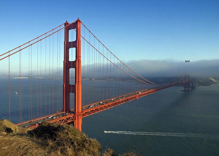 America Greeting Card featuring the photograph Golden Gate Bridge by Melanie Viola