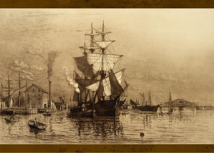 Schooner Greeting Card featuring the photograph Historic Seaport Schooner by John Stephens