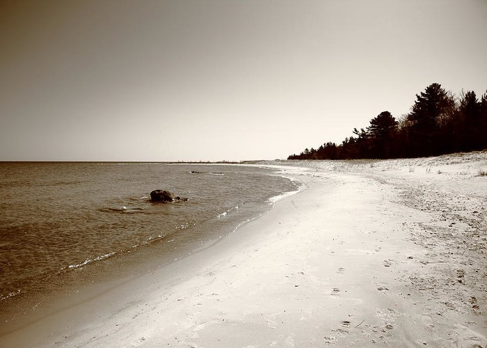 America Greeting Card featuring the photograph Lake Huron by Frank Romeo