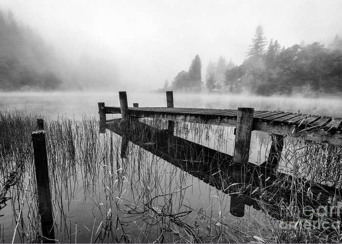 Scottish Canvas Greeting Card featuring the photograph Loch Ard Early Mist by John Farnan