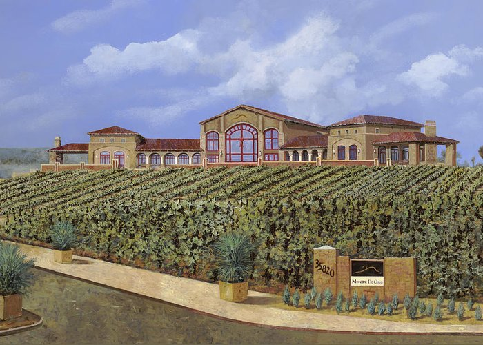 Monte De Oro Greeting Card featuring the painting monte de Oro by Guido Borelli