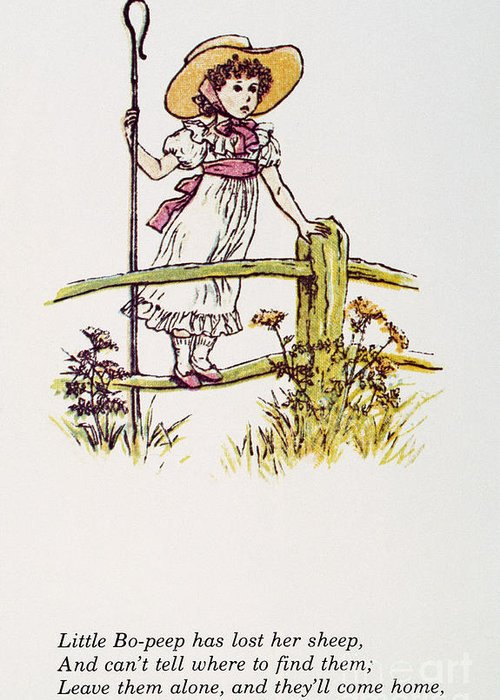 1881 Greeting Card featuring the photograph Mother Goose: Bo-peep by Granger