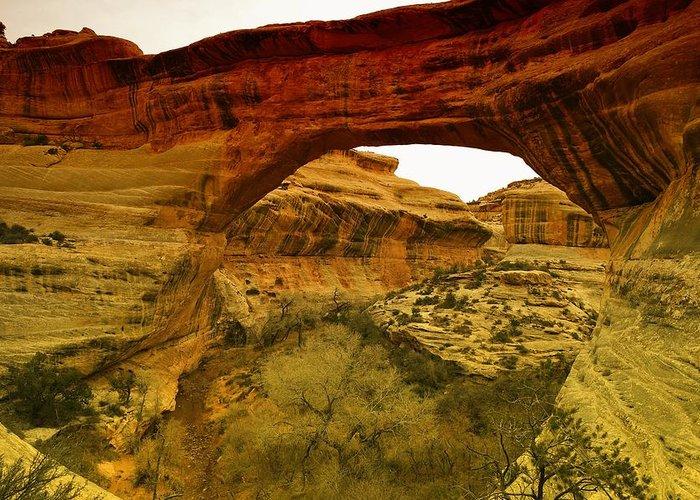 Utah Greeting Card featuring the photograph Natural Bridge by Jeff Swan