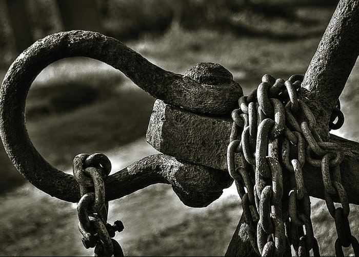 Abstract Greeting Card featuring the photograph Old Rusty Anchor by Erik Brede