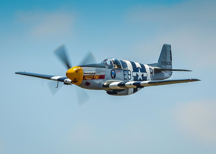 P51 Photographs Greeting Card featuring the photograph P-51 Mustang by Puget Exposure