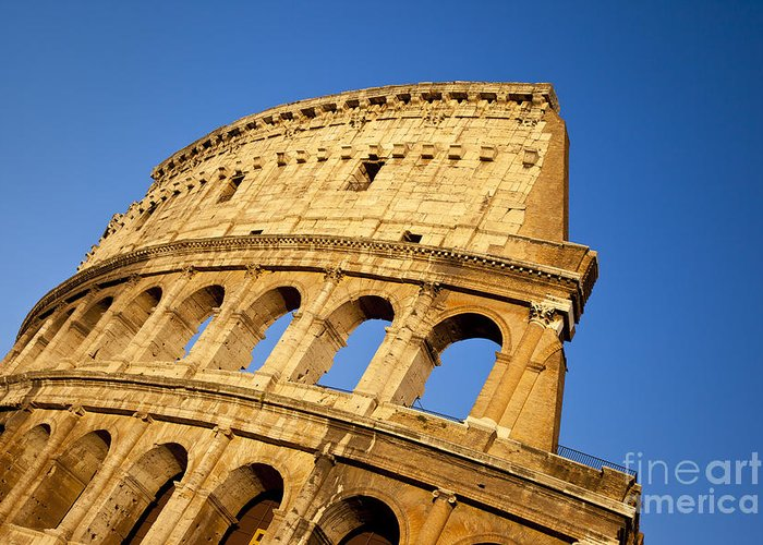 Roman Greeting Card featuring the photograph Roman Coliseum by Brian Jannsen