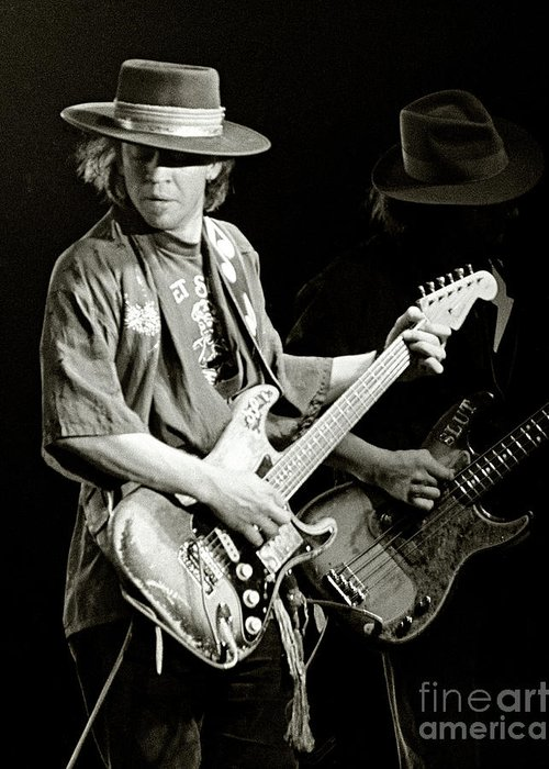 Stevie Ray Greeting Card featuring the photograph Stevie Ray Vaughan 1984 by Chuck Spang