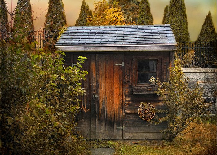 Shed Greeting Card featuring the photograph The Shed by Jessica Jenney