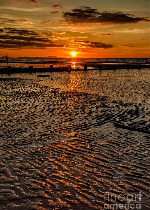 British Greeting Card featuring the photograph Welsh Sunset by Adrian Evans
