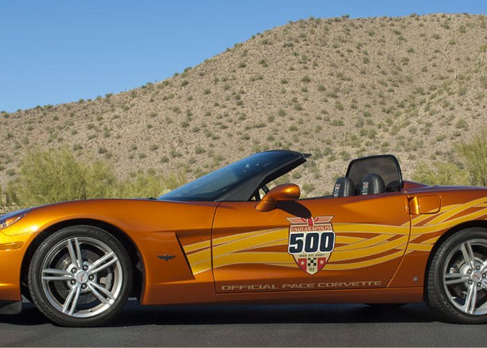 2007 Chevrolet Corvette Indy Pace Car Greeting Card featuring the photograph 2007 Chevrolet Corvette Indy Pace Car by Jill Reger