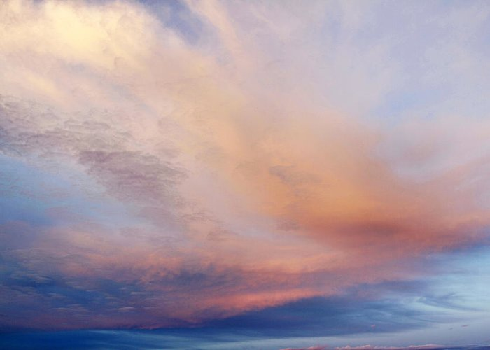 Abstract Greeting Card featuring the photograph Clouds by Les Cunliffe