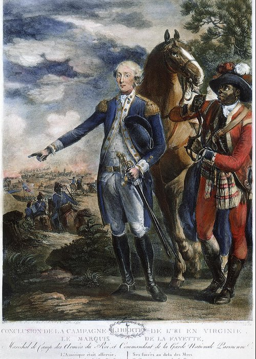1781 Greeting Card featuring the photograph Marquis De Lafayette by Granger
