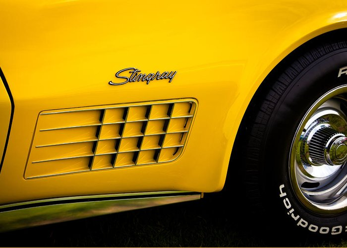 71 Greeting Card featuring the photograph 1971 Chevrolet Corvette Stingray by David Patterson