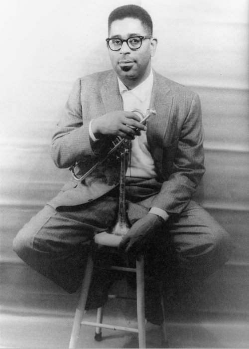 1955 Greeting Card featuring the photograph Dizzy Gillespie (1917-1993) by Granger