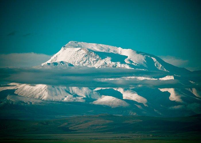 Landscape Greeting Card featuring the photograph Mount Gurla Mandhata by Raimond Klavins