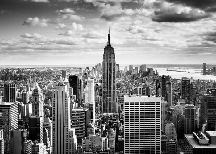 Nyc Greeting Card featuring the photograph Nyc Downtown by Nina Papiorek