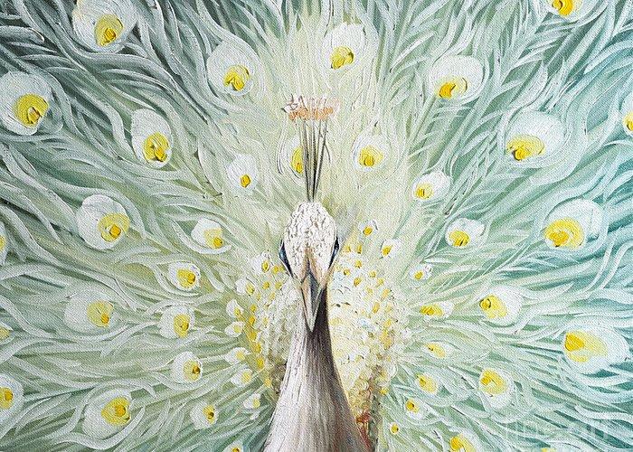 Peacock Greeting Card by Willson Lau