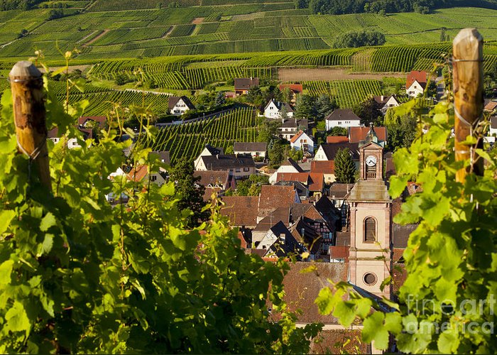 Riquewihr Greeting Card featuring the photograph Riquewihr Alsace by Brian Jannsen