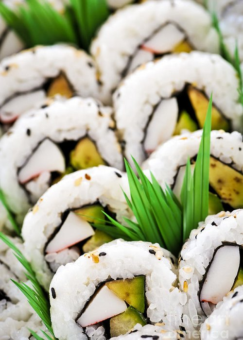 Sushi Greeting Card featuring the photograph Sushi Platter by Elena Elisseeva
