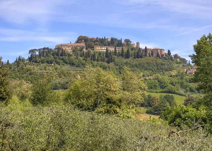 Montepulciano Greeting Card featuring the photograph Tuscany - Montepulciano by Joana Kruse