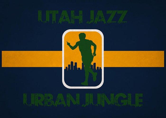 Jazz Greeting Card featuring the photograph Utah Jazz by Joe Hamilton