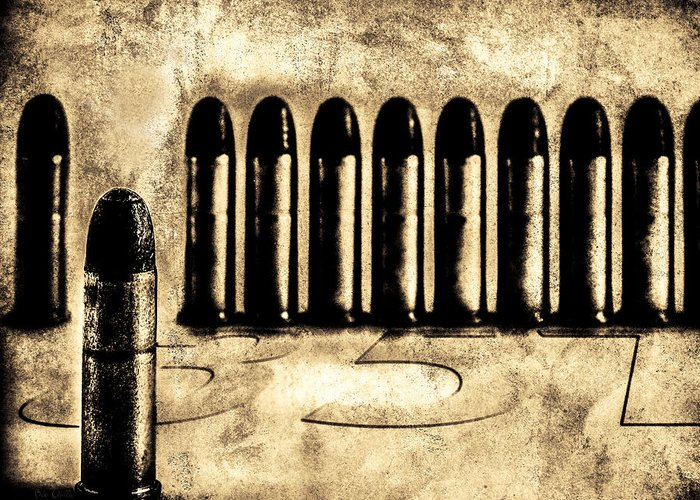 Bullets Greeting Card featuring the photograph 357 by Bob Orsillo