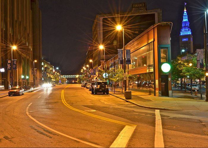 Cleveland Greeting Card featuring the photograph Cleveland Ohio by Frozen in Time Fine Art Photography