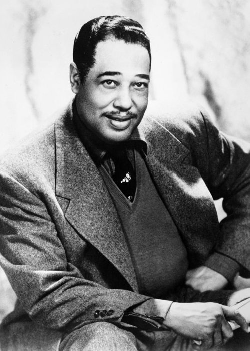 1955 Greeting Card featuring the photograph Duke Ellington (1899-1974) by Granger