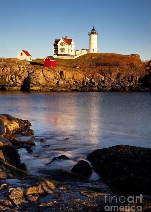 Nubble Greeting Card featuring the photograph Nubble Lighthouse by Brian Jannsen