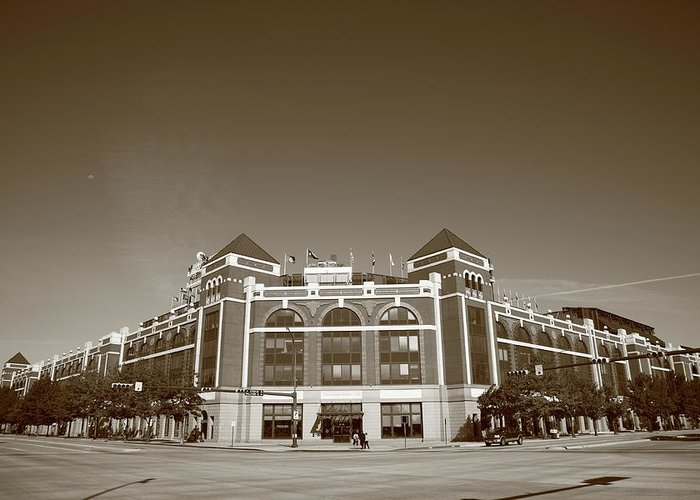 America Greeting Card featuring the photograph Texas Rangers Ballpark In Arlington by Frank Romeo