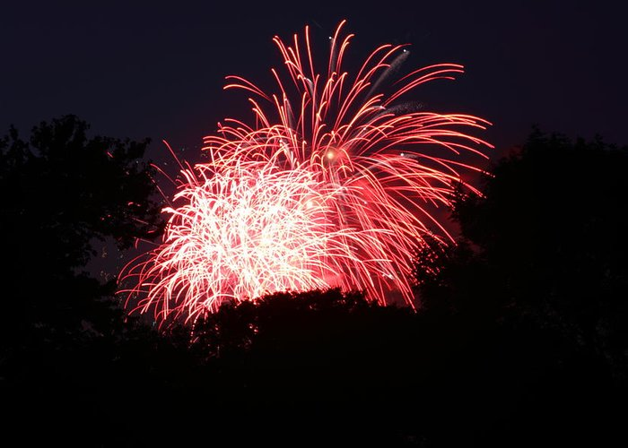 Washington Greeting Card featuring the photograph 4th Of July Fireworks - 011311 by DC Photographer