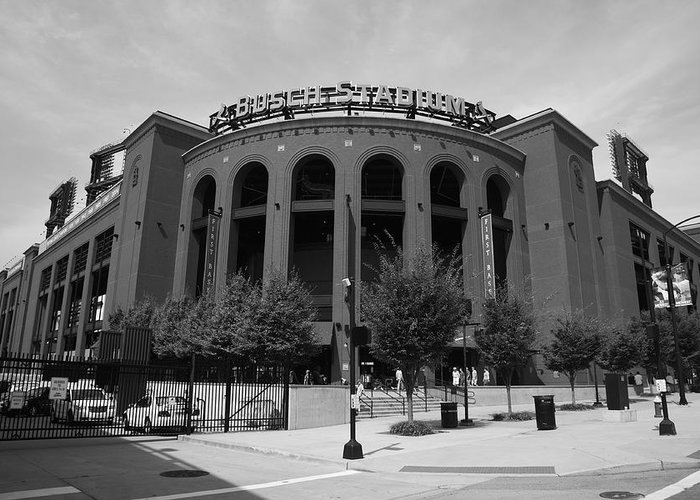 America Greeting Card featuring the photograph Busch Stadium - St. Louis Cardinals by Frank Romeo