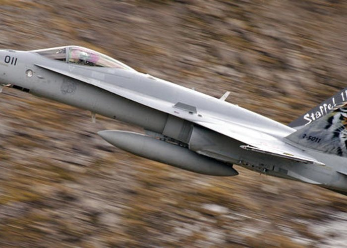 Aircraft Greeting Card featuring the photograph f18 by Angel Tarantella