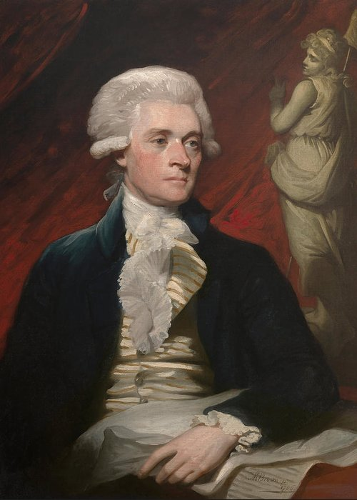 Thomas Jefferson Greeting Card featuring the painting Thomas Jefferson by War Is Hell Store