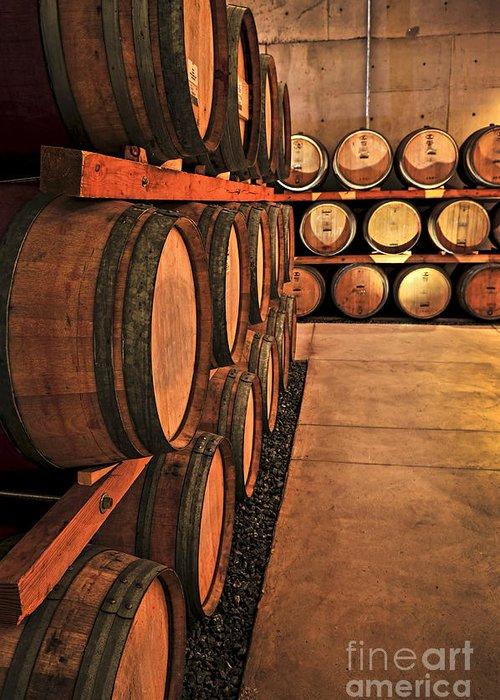Barrels Greeting Card featuring the photograph Wine Barrels by Elena Elisseeva