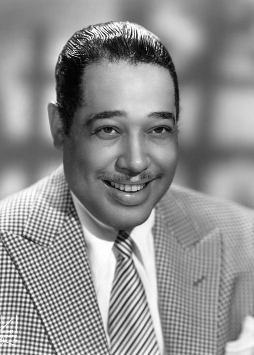 1950 Greeting Card featuring the photograph Duke Ellington (1899-1974) by Granger