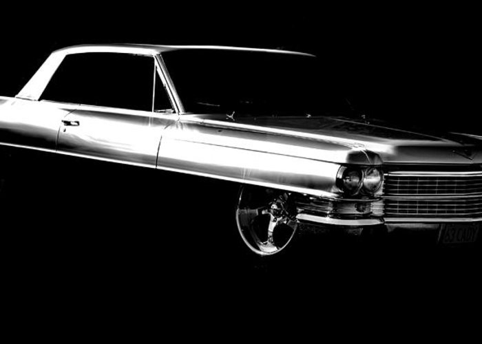 Cadillac Greeting Card featuring the photograph 63 Coupe De Ville by motography aka Phil Clark