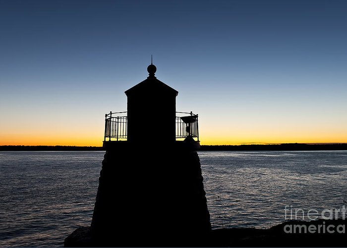 Castle Hill Lighthouse Greeting Card featuring the photograph Castle Hill Lighthouse by John Greim