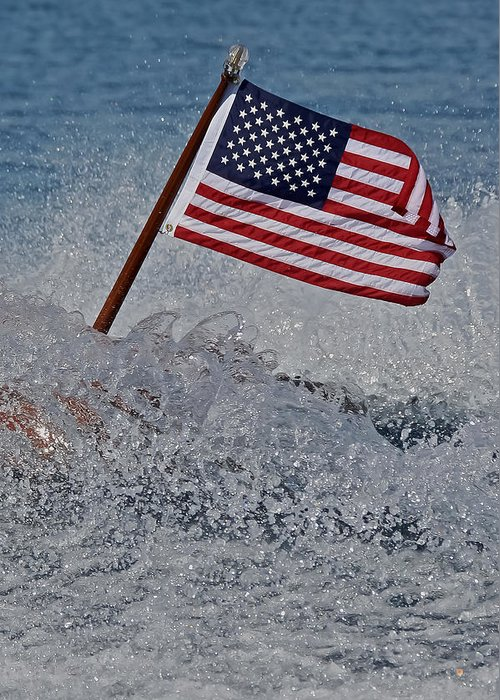 American Greeting Card featuring the photograph Stars And Stripes by Steven Lapkin