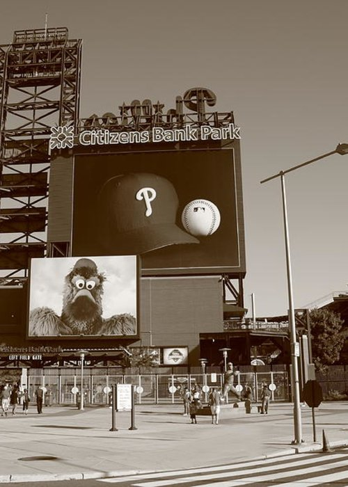 America Greeting Card featuring the photograph Citizens Bank Park - Philadelphia Phillies by Frank Romeo