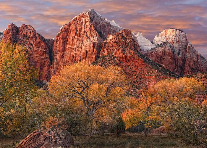 Zion National Park Greeting Card featuring the photograph Zion National Park by Utah Images