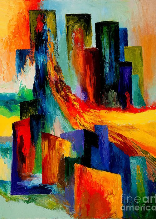Terrorism Greeting Card featuring the painting 911 Revisited by Larry Martin