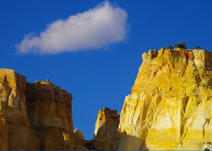 Clouds Greeting Card featuring the photograph A Cloud Over Orange Rock by Jeff Swan