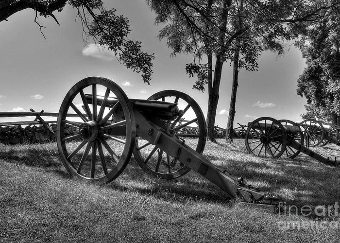 Gettysburg Greeting Card featuring the photograph A Country Divided by Mel Steinhauer