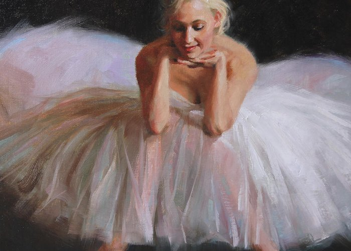 Ballet Greeting Card featuring the painting A Dancer's Ode To Marilyn by Anna Rose Bain