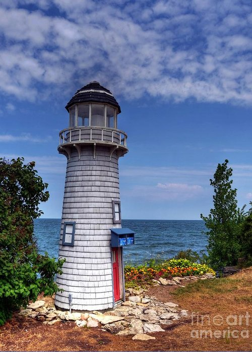 Lighthouses Greeting Card featuring the photograph A Little Lighthouse by Mel Steinhauer