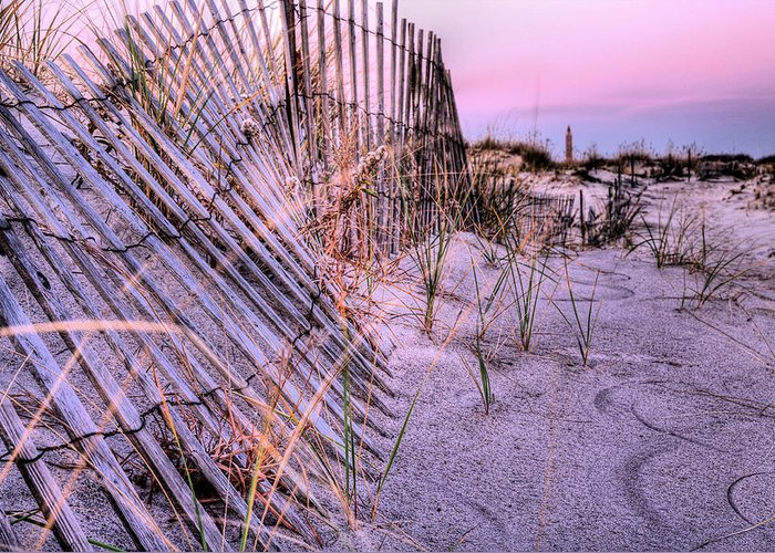 Jones Beach Greeting Card featuring the photograph A Pink Sunrise by JC Findley