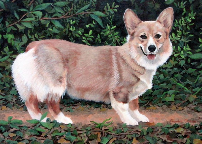 Dog Greeting Card featuring the painting A Portrait Of Pickle by Sandra Chase